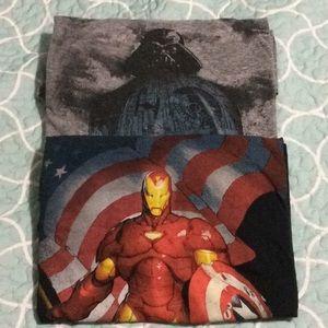 Other - Marvel & Star Wars t shirt bundle